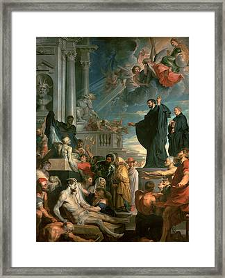 The Miracles Of St. Francis Xavier Framed Print