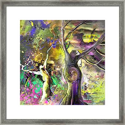 The Miraculous Conception Framed Print by Miki De Goodaboom
