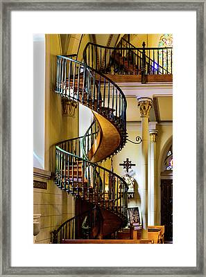 The Miraculous Stairway - Loretto Chapel - Santa Fe - New Mexico Framed Print