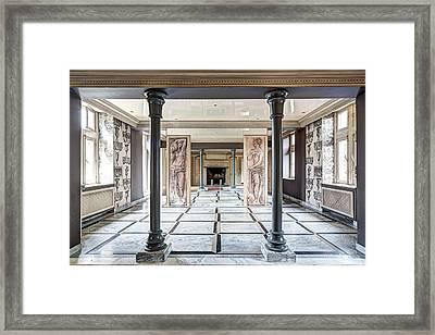 The Mirror Dance Room - Urban Exploration Framed Print by Dirk Ercken