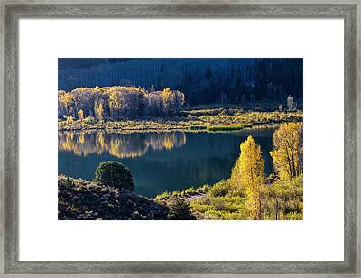 The Mirror In Her Hand Framed Print