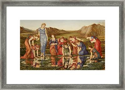 The Mirror Of Venus Framed Print by Edward Burne-Jones