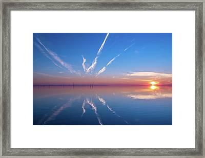 The Mirror Framed Print by Thierry Bouriat