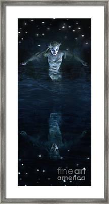 The Mirror World Framed Print by Spokenin RED