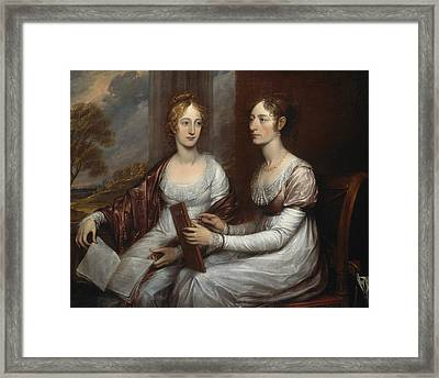 The Misses Mary And Hannah Murray Framed Print by John Trumbull