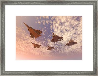 The Missing Man Formation. Framed Print