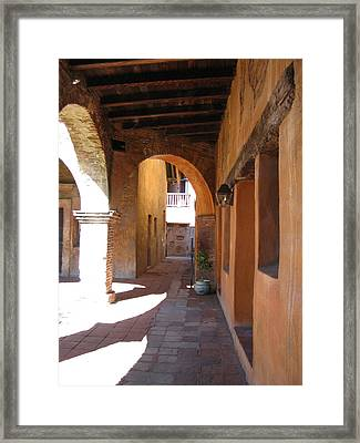 The Mission At San Juan Capistrano Framed Print by Beverlee Singer