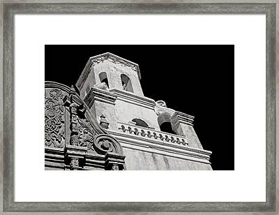 The Bell Tower - San Xavier Mission Framed Print by Lucinda Walter