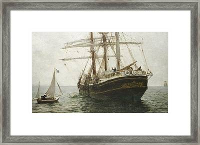 The Missionary Boat Framed Print by Henry Scott Tuke