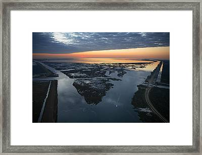 The Mississippi River Gulf Outlet Framed Print by Tyrone Turner