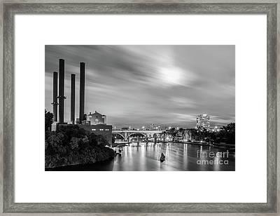 The Mississippi River Night Scene Framed Print