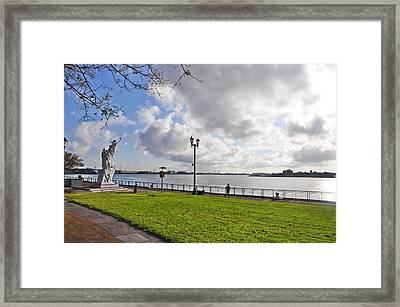 The Mississippi River Walk - New Orleans Framed Print by Bill Cannon
