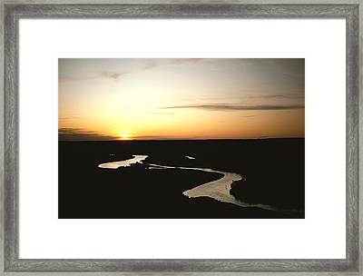 The Missouri Rivers Silvery Surface Framed Print