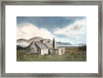 The Mist Of Moorland Framed Print