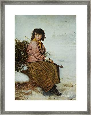 The Mistletoe Gatherer Framed Print by Sir John Everett Millais