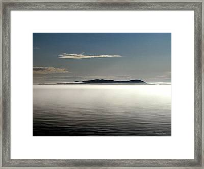 The Mists Of Pic Island Framed Print by Laura Wergin Comeau