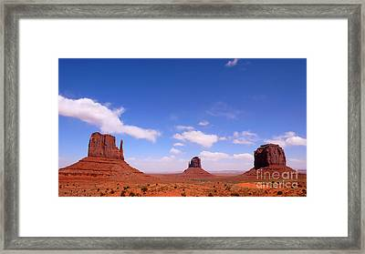 The Mittens And Merrick Butte Framed Print by Thomas R Fletcher
