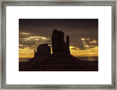 The Mittens Sunrise Framed Print