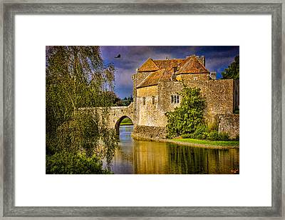 The Moat At Leeds Castle Framed Print by Chris Lord