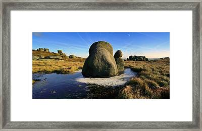 The Moat Stone, Kinder Scout Framed Print by Christopher Drabble