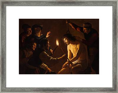 The Mocking Of Christ Framed Print