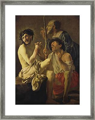 The Mocking Of Christ  Framed Print by Hendrick Ter Brugghen