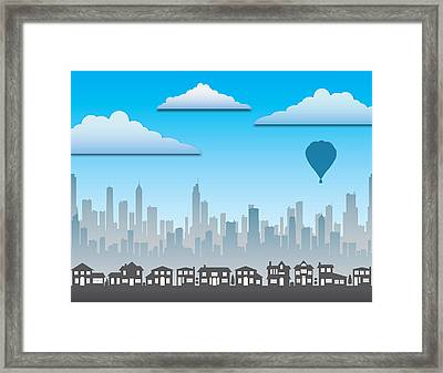 Framed Print featuring the photograph The Modern City by Anthony Citro