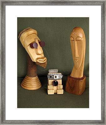 The Modern Family Framed Print by Windy Dankoff