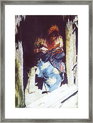 The Mola Maker Framed Print by Marion  Hylton