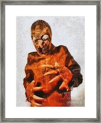 The Mole People, Vintage Sci-fi Framed Print
