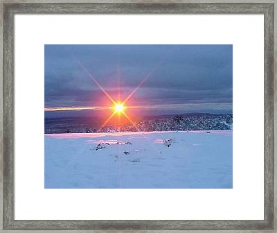 Framed Print featuring the photograph The Moment by Fred Wilson