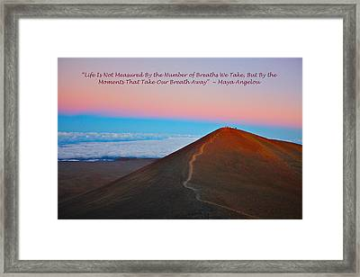 The Moments That Take Our Breath Away Framed Print by Venetia Featherstone-Witty
