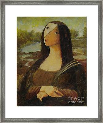 The Mona Lisa Next Door Framed Print by Glenn Quist