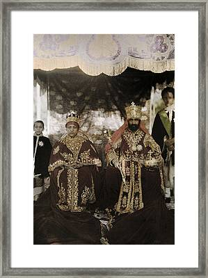 The Monarchs Haile Selassie The First Framed Print by W. Robert Moore