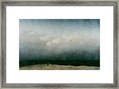 Monk By The Sea  Framed Print