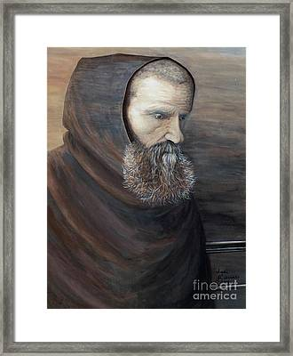 The Monk Framed Print by Judy Kirouac