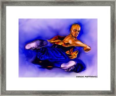 The Monk  Kick. Framed Print by Darryl Matthews