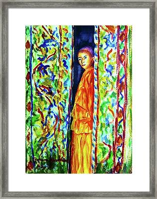 The Monk Framed Print