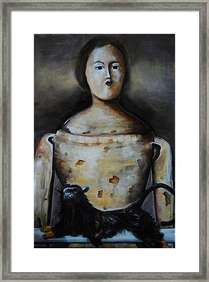 The Monkey And The Mannequin Framed Print
