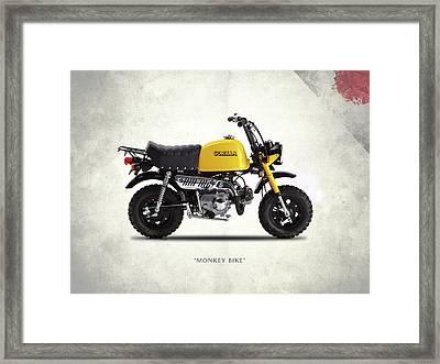 The Monkey Bike Framed Print