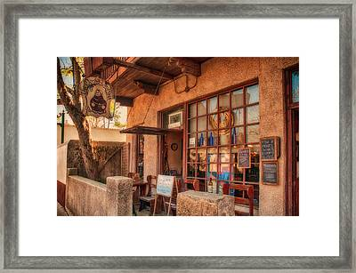 The Monk's Vineyard Framed Print