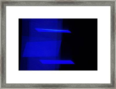 The Monochromes. Electric Blue N.4 Framed Print