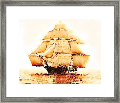 Framed Print featuring the painting The Monongahela by Angela Treat Lyon