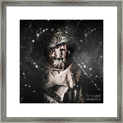 The Monster Scarecrow Framed Print by Jorgo Photography - Wall Art Gallery