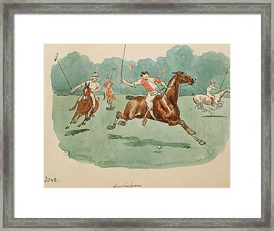 The Month Of June  Polo Framed Print by George Derville Rowlandson