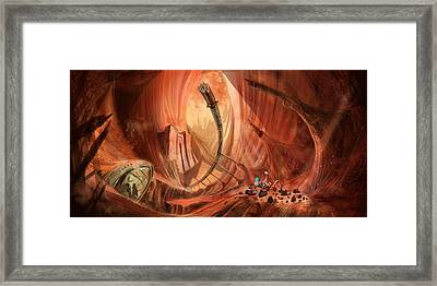The Monuments Of Mars 1 Framed Print