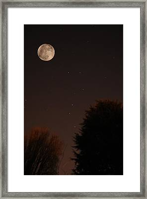 The Moon And Ursa Major Framed Print