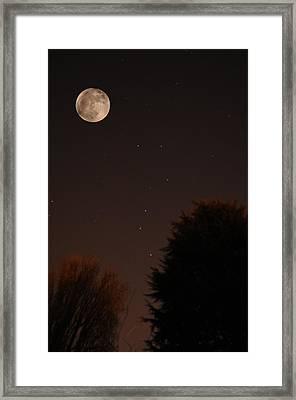 The Moon And Ursa Major Framed Print