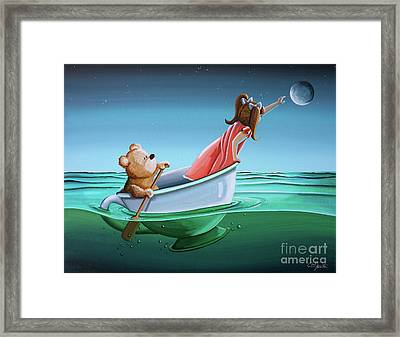 The Moon Bandits II Framed Print by Cindy Thornton