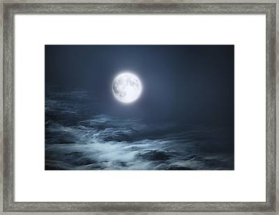 The Moon Blues Framed Print by Bill Wakeley